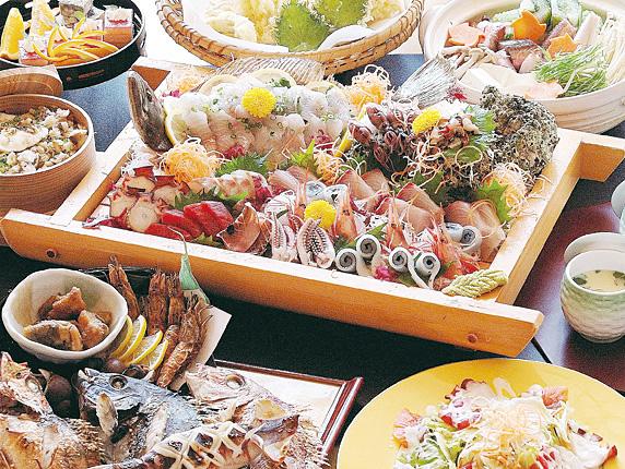 お料理 日本海で獲れた新鮮魚介を満喫!